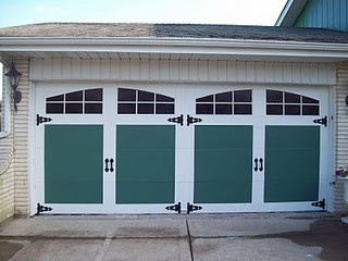 Painted Faux Carriage Garage Door traditional