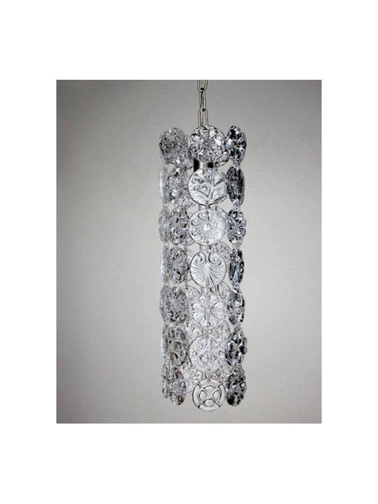 Elizabeth Lyons Glass Pressed Glass Chandelier -