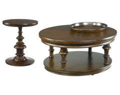 Hammary Chapman 2-Piece Round Coffee Table Set traditional coffee tables