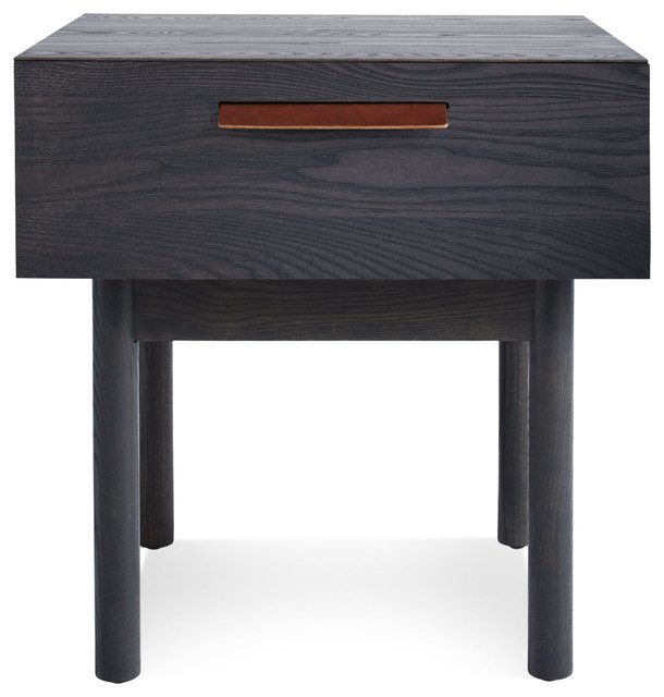 Blu dot shale bedside table smoke modern nightstands for Modern bedside tables nightstands