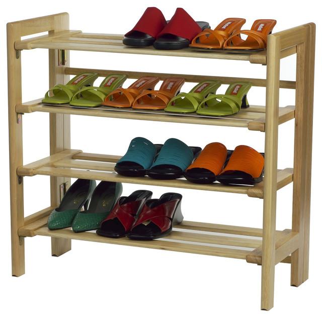 Shoe Rack, 4-Tier - Contemporary - Shoe Storage - by Contemporary ...