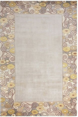 Momeni New Wave Disc Border Grey NW-96 Area Rug contemporary-rugs