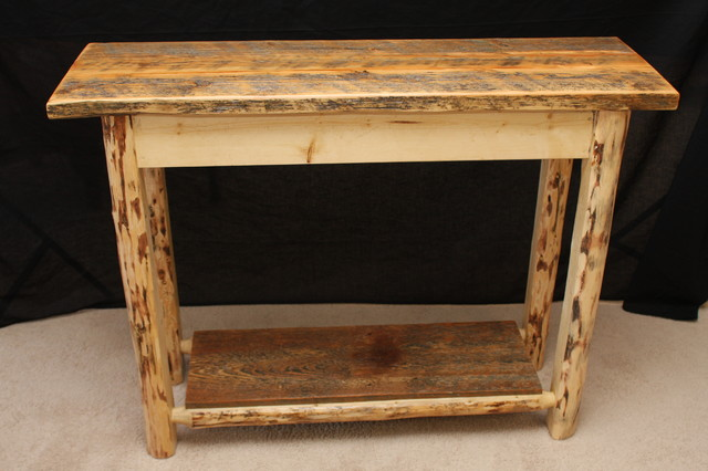 Log Living Room Furniture Rustic Side Tables And End Tables Other Metro By Four Corner
