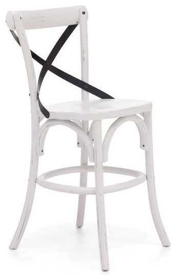 Zuo Union Square Counter Chair in White farmhouse-bar-stools-and-counter-stools