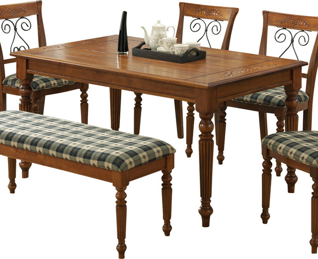 60 Inch Dining Table With Bench Outdoor Walnut