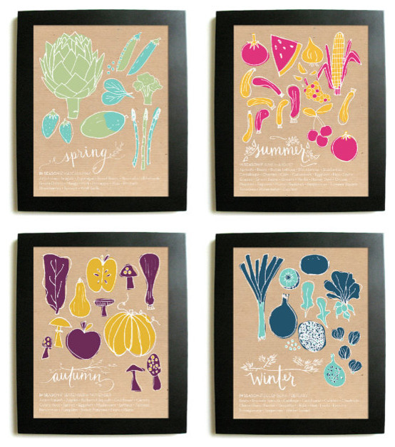 Seasonal Prints by juliaspoppies on Etsy eclectic-artwork