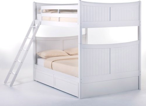 Schoolhouse Taylor Full over Full Bunk Bed - White traditional-kids-beds