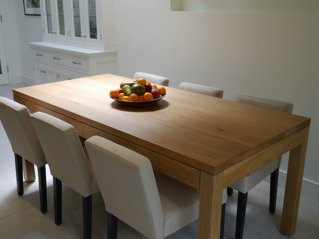Shadowline Kitchen Table with hidden drawers - london - by tablemakers