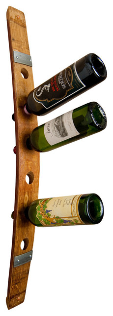 Banded Wine Barrel Wall Wine Rack 6 contemporary-wine-racks