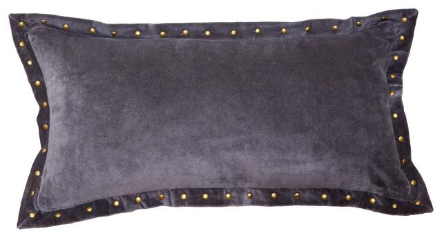 Grey Velvet Pillows