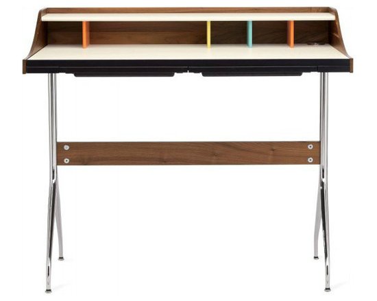 Nelson Swag Leg Desk - In my opinion, there is not a more perfectly designed desk proportioned for a small home office. The footprint is petite, and the slim swag legs don't take up a lot of visual space.