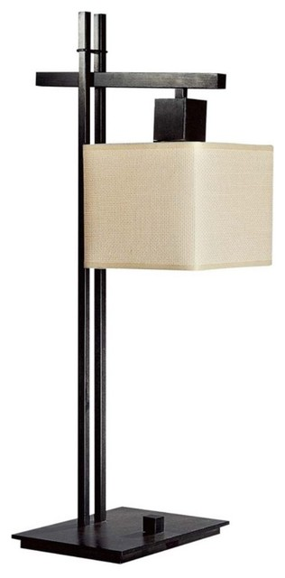 George Kovacs by Minka P5932-611 1-Light Table Lamp - Blackened Steel - 9W in. modern-table-lamps