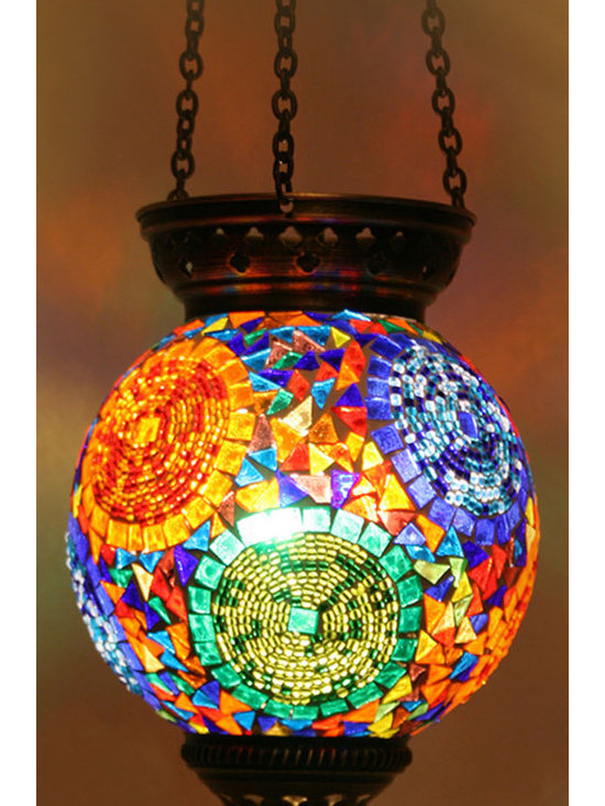 Turkish Style Mosaic Pendant Lamp 15cm - Decorative Mosaic Glass Turkish Style Pendant Ligting