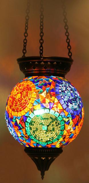 Turkish Style Mosaic Pendant Lamp 15cm Mediterranean