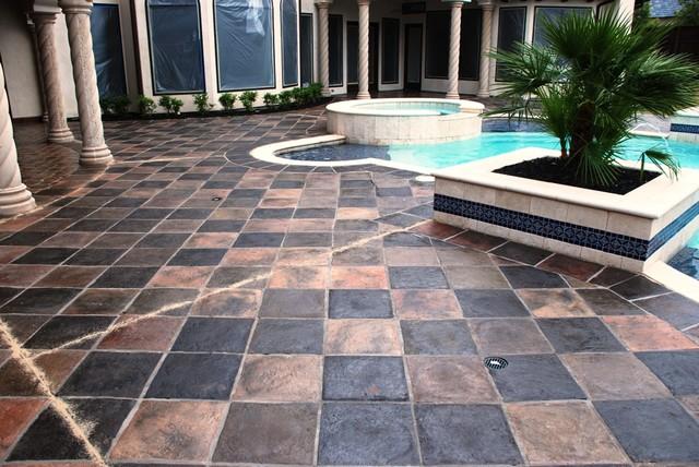 Square Antique-Manganese Saltillo floor-tiles