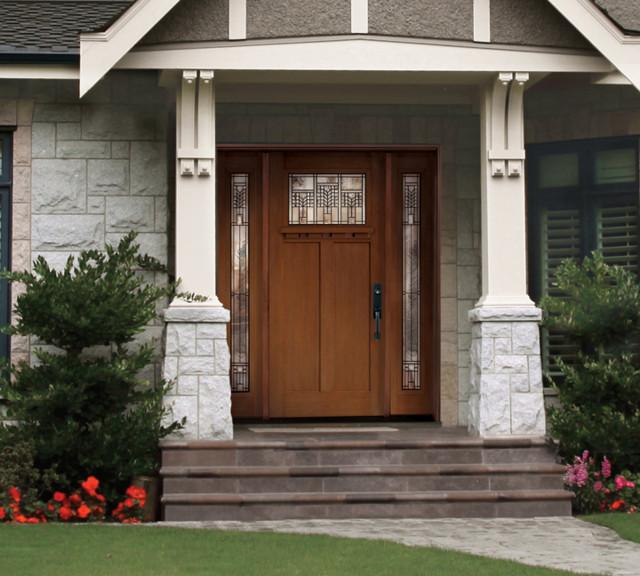Craftsman fiberglass door for Fiberglass front doors