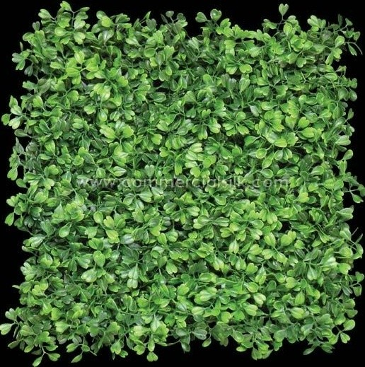 Artificial Boxwood Mat Plastic Panel Wall Covering 12