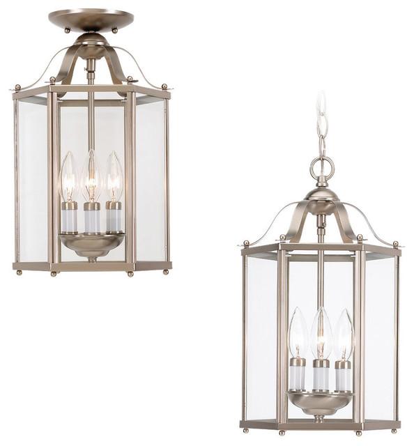 Sea Gull Lighting 5231-962 Bretton Brushed Nickel Pendant transitional-pendant-lighting