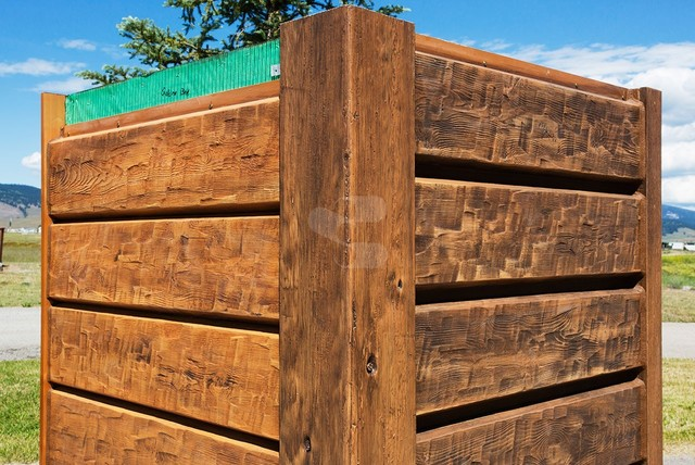 10 Plank Everlog Concrete Log Siding Adjustable Chink