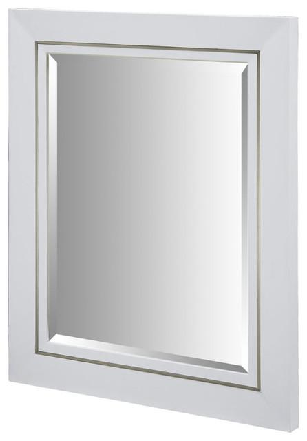 xylem manhattan 36 inch white wall mirror modern bathroom mirrors by beyond stores