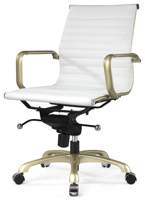 office chair white and gold modern office chairs by meelano