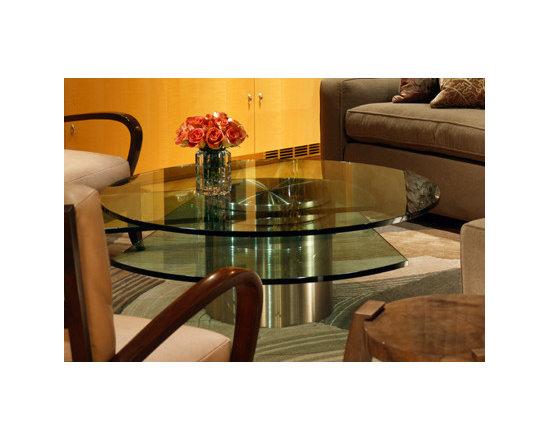 Dakota Jackson Glass Coffee Table -