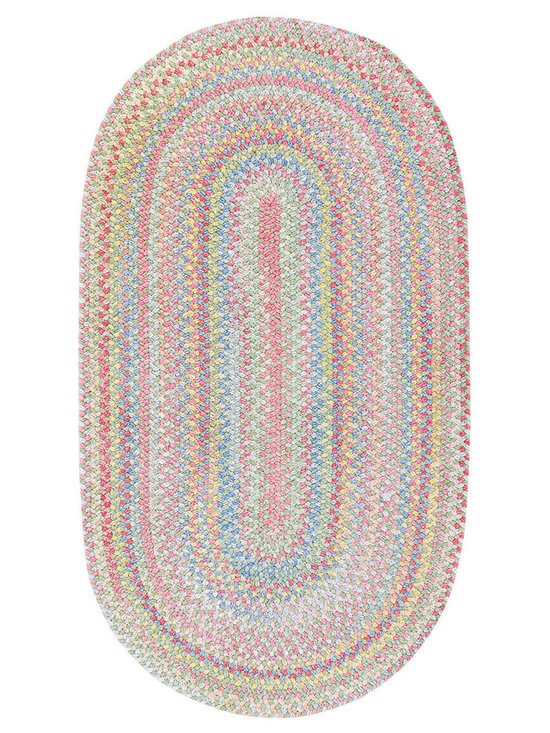 Cutting Garden rug in Grass - Cutting Garden by Capel Rugs is a braided area rug in the cool, clean pastels of a springtime garden.  Made from smooth, soft chenille, it is pretty in a variety of colors.