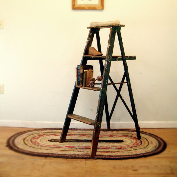 Circa 1950s Wooden Ladder by Go Seek traditional ladders and step stools