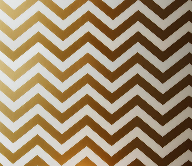 Peel and stick chevron wallpaper gold contemporary wallpaper by
