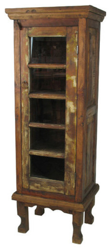 rustic wood curio cabinet eclectic kitchen cabinetry