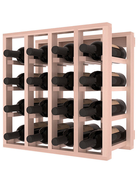 Lattice Stacking Wine Cubicle in Redwood with White Wash Stain + Satin Finish - Designed to stack one on top of the other for space-saving wine storage our stacking cubes are ideal for an expanding collection. Use as a stand alone rack in your kitchen or living space or pair with the 20 Bottle X-Cube Wine Rack and/or the Stemware Rack Cube for flexible storage.