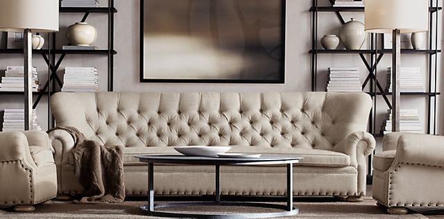 Traditional Living Room Restoration Hardware Traditional