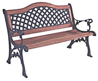 Hampton Bay Wood Weave Patio Bench 34068 - Contemporary - Patio Furniture And Outdoor Furniture ...