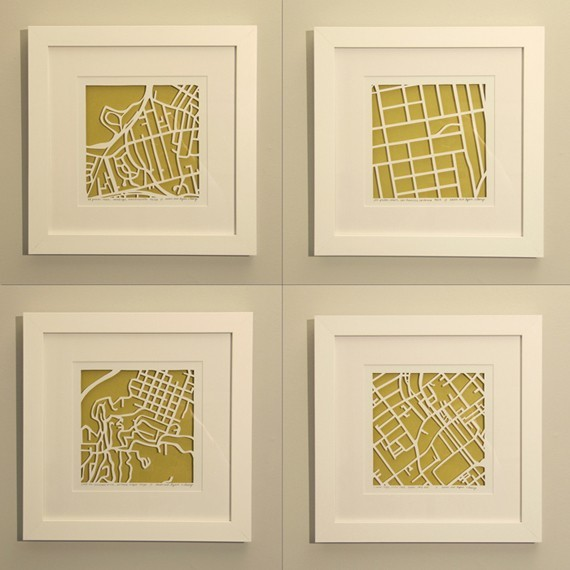 Personalized Mapcut by Studio Karen M. O'Leary modern-artwork
