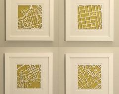 Personalized Mapcut by Studio Karen M. O'Leary modern-artwork