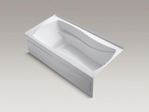 "KOHLER Mariposa(R) 72"" x 36"" alcove BubbleMassage(TM) Air Bath with Bask(TM) hea contemporary-bathtubs"