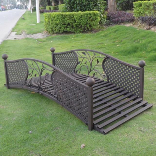 Ft Metal Lattice Garden Bridge Modern Patio Furniture And Outdoor