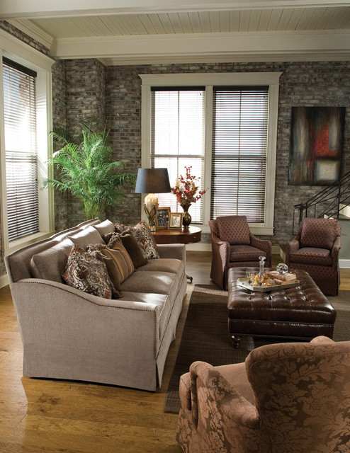 Living room scenes traditional-sofas