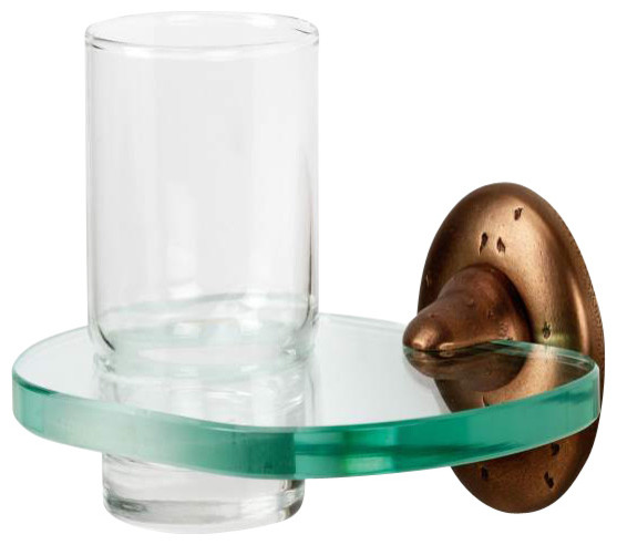 Alno Creations Sierra Bath Tumbler Holder W/Tumbler Iron A8270-Irn traditional-bathroom-accessories