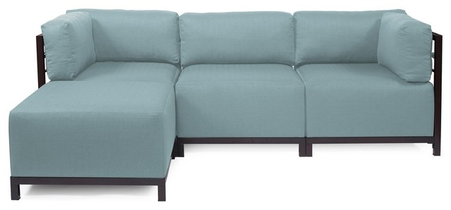 Sterling Breeze Axis 4-Piece Sectional - Mahogany Frame contemporary-sectional-sofas