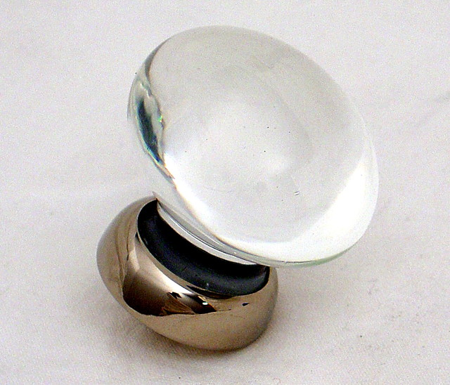 Oval glass knobs - Contemporary - Cabinet And Drawer Knobs ...