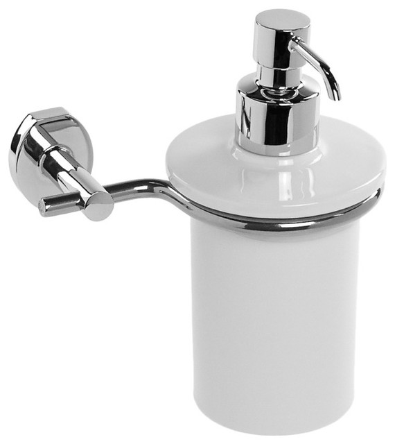 Wall Mounted Ceramic Soap Dispenser Contemporary Bath And Spa Accessories By Thebathoutlet
