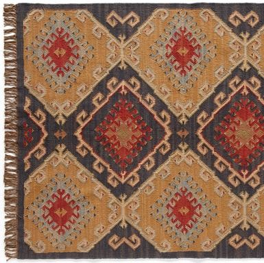 Celestial Diamond Dhurrie eclectic-rugs