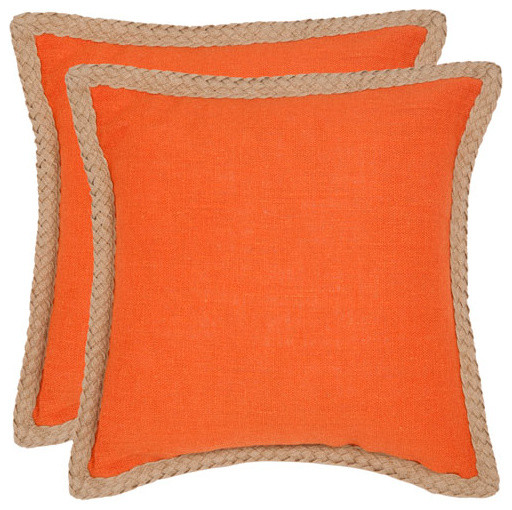 Orange Throw Pillows For Bed : Sweet Sorona 18-Inch Orange Decorative Pillows - Set of Two - Modern - Decorative Pillows - by ...