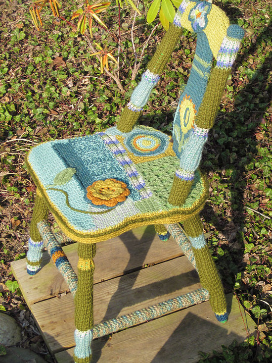 BETTY crocheted chair - 'Betty' chair top view.