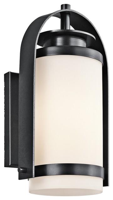"""Contemporary Kichler Westport 14"""" High Black Outdoor Wall Light contemporary-outdoor-lighting"""