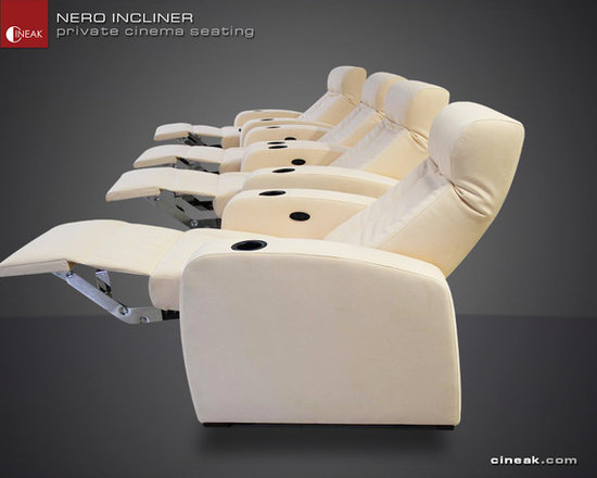 New Nero Home Theater Seats - ALL LEATHER LUXURY AND COMFORT