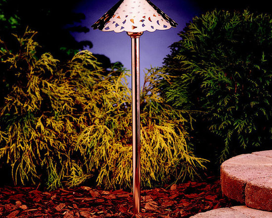 Kichler - 15843CO Copper Kichler LED Hammered Roof Landscape Path Light - Call for best prices. Here's our low price guarantee.