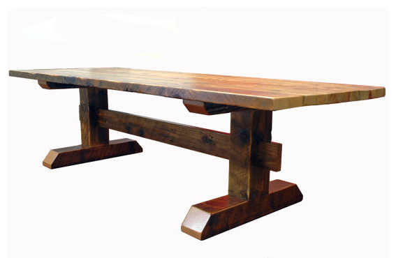 Reclaimed Timber Trestle Table - Rustic - Dining Tables - by ...