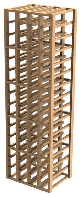 EcoWineracks 4 Column Upper Individual Bottle Rack, Natural Color, Clear Acrylic craftsman-wine-racks